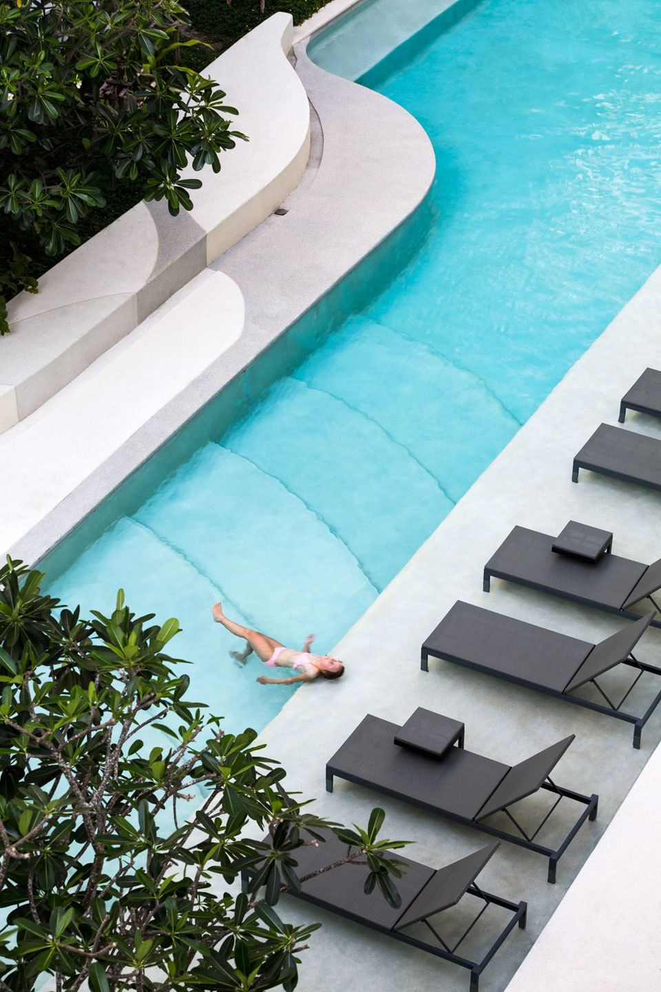 The Base Downtown Phuket By Open Box Resort Pool Design Pool Landscape Design Pool Water Features