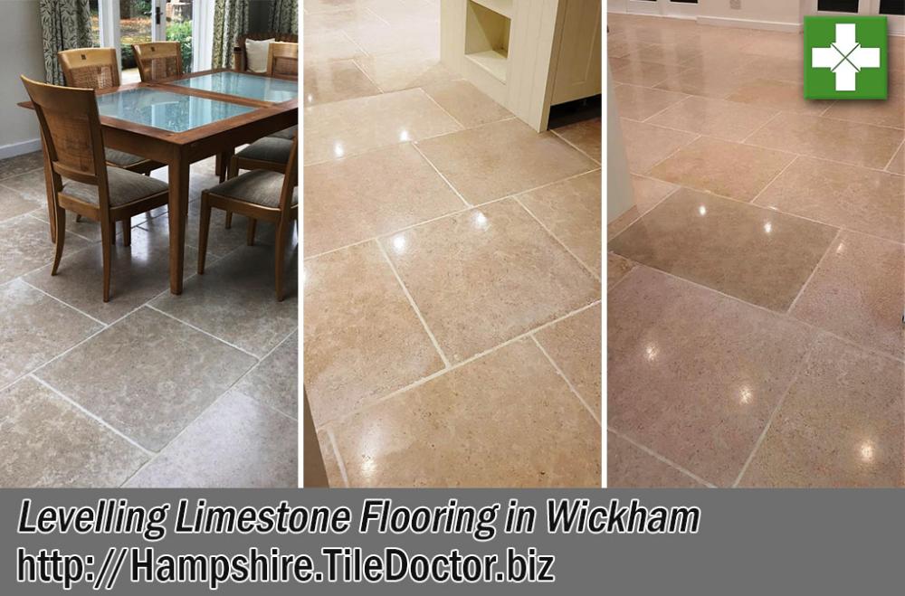 levelling an uneven limestone kitchen floor in wickham
