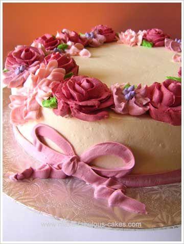Make a Flower Birthday Cake Flower birthday cakes Flower birthday