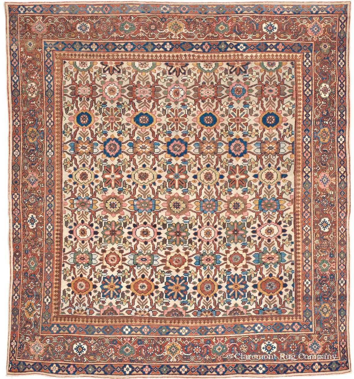 Mahal West Central Persian 11ft 2in X 12ft 0in Circa 1900 Rugs On Carpet Persian Carpet Simple Carpets