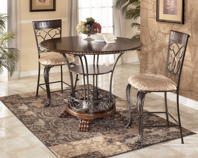 D34532 Inashley Furniture In Wichita Ks  Round Dining Room Mesmerizing Ashley Dining Room Table Set Decorating Design