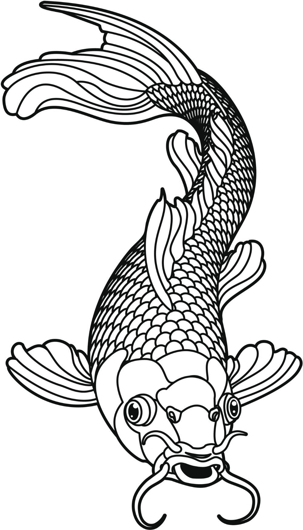 6dcbab5b9dc45 japanese catfish art - Google Search Koi Karpfen Tattoo, Koi Fish Tattoo  Meaning, Fish