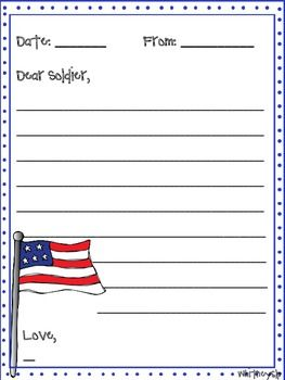 letter to soldiers template writing template for a letter to soldier