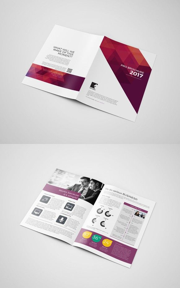 corporate bifold brochure 4 pages brochure templates 9 00