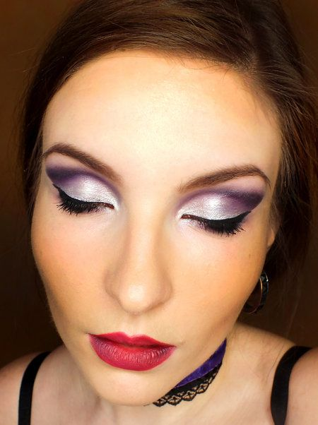 Violet... :) - #silvershadow #violetshadow #metallicshadow #eyemakeup #ewazawadowska - bellashoot for iPhone & iPad; bellashoot.com (mobile-friendly)