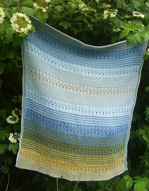 Ravelry: jayeyarns' Dandelions and Blue Skies Blanket