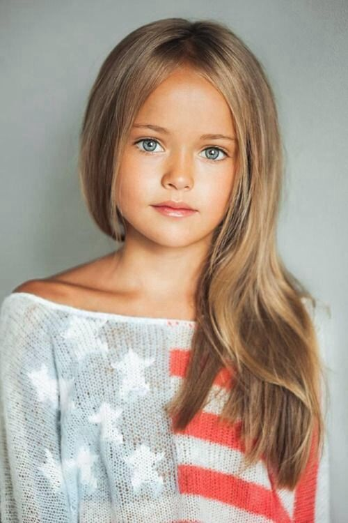Beautiful natural little girl