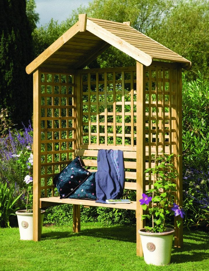 The Pinnacle Rose Arbour Featured In Country Homes Magazine Http Www Worldstores Co Uk P Pinnacle Rose Arbour Htm Wooden Arbor Garden Seating Garden Arbor