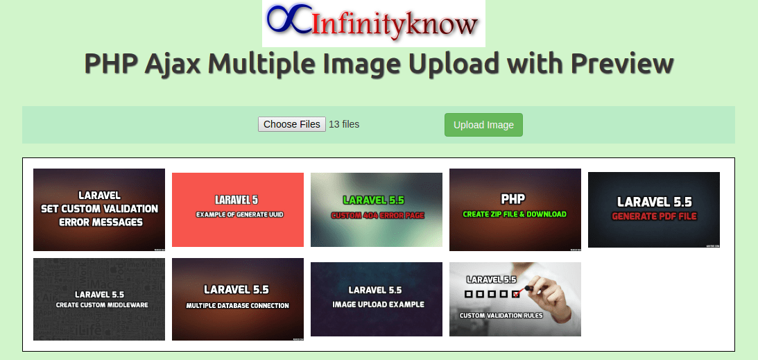 Multiple Image Upload in php with Database | PHP | Multiple images