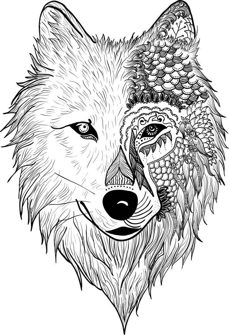 Resultado de imagen de ZENTANGLE ANIMALES Tatuaje de