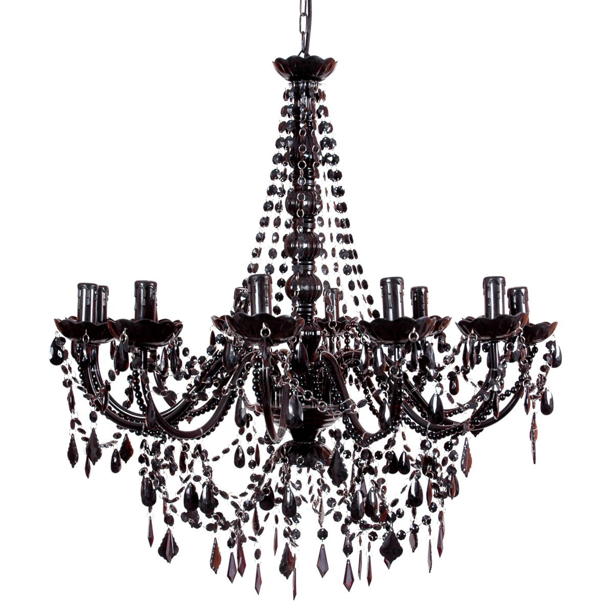 Buttress 12 Arm Black Chandelier Chandeliers Lighting French