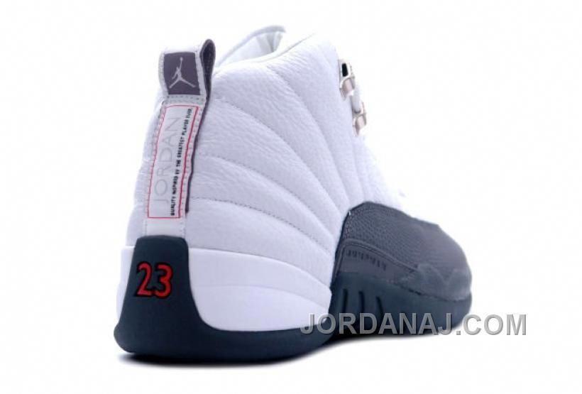 c50ac9ce0dd 136001-102 Air Jordan XII 12 Retro Mens Basketball Shoes White Flint Grey  A12009  mensbasketball