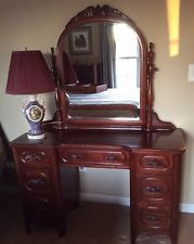 Vanity Davis Cabinet Co American Solid Black Walnut Lillian ...