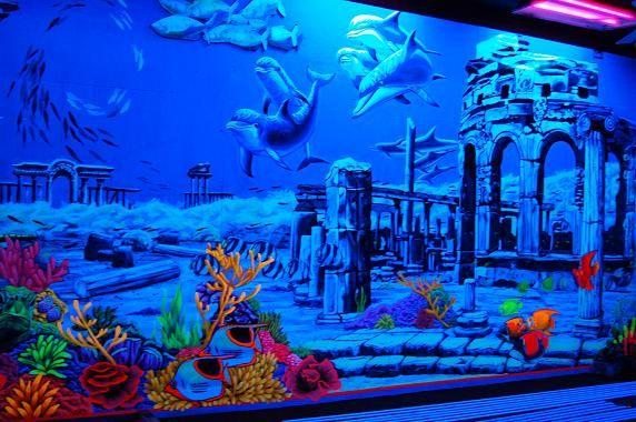 Glow In The Dark Mural Murals And Fine Art Ocean