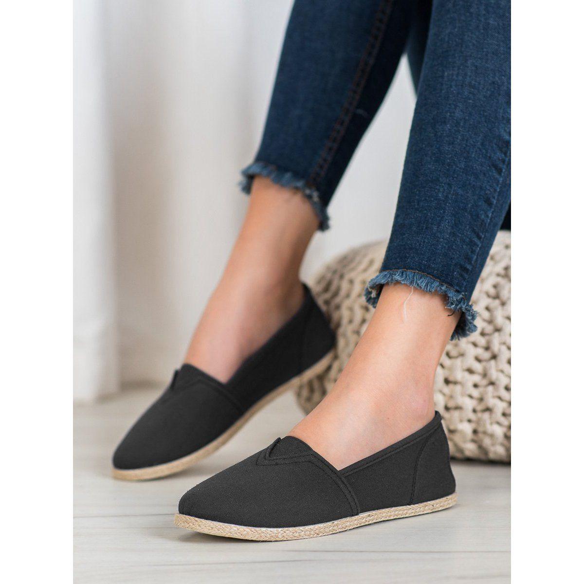 Casualowe Slipony Mckeylor Czarne Shoes Sneakers Espadrilles