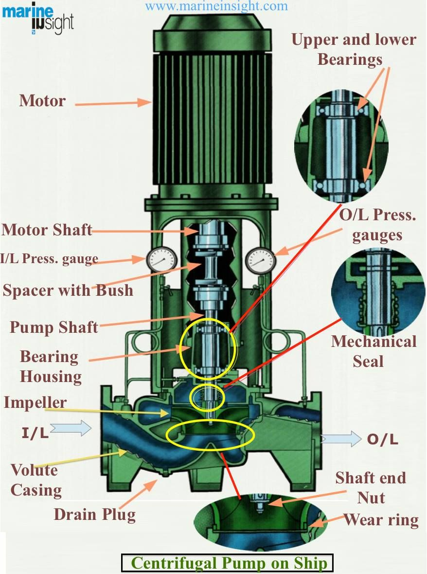 Technographic Important Parts of Centrifugal Pump on
