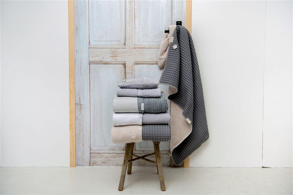 Koeka Cot blanket waffle/teddy Oslo - Steel Grey