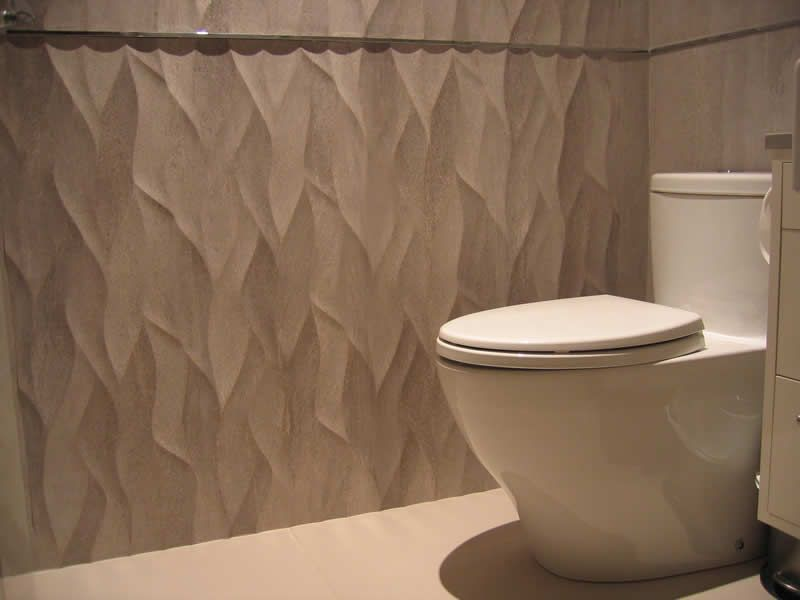 Bathroom Textured Wall Tiles Ona Natural 13 X40 With Accent Pro Part Chrome Strip Madagascar Floor