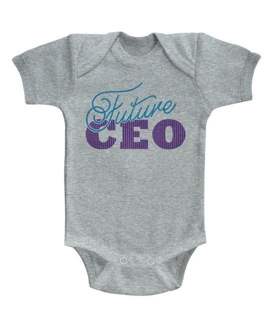 Gray Heather Future CEO Bodysuit #zulilyfinds