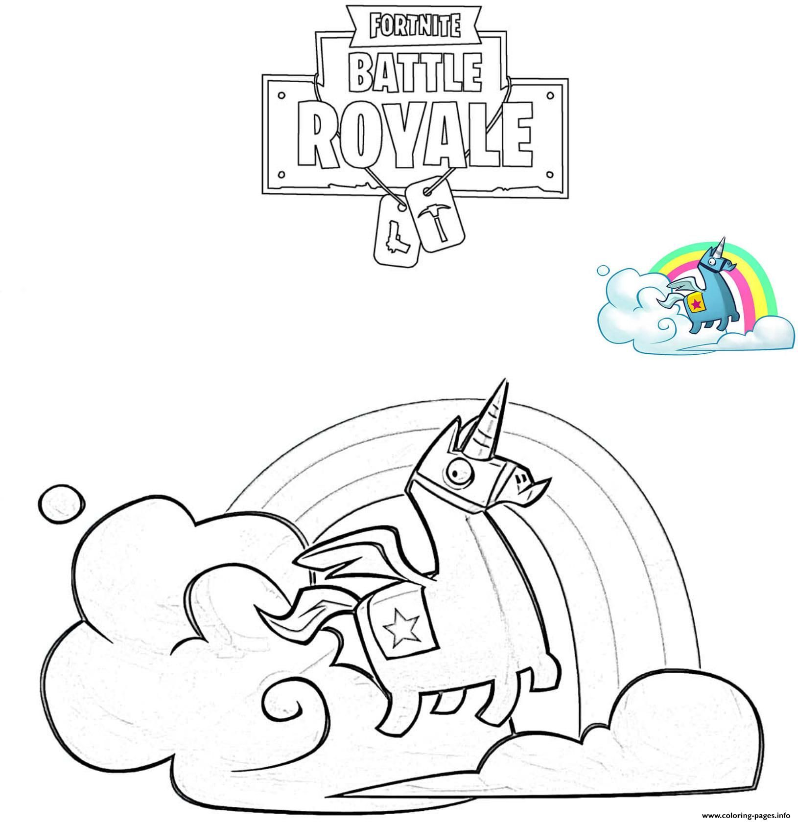 photo relating to Fortnite Coloring Pages Printable referred to as Print Brite Llama Fortnite coloring web pages Fortnite