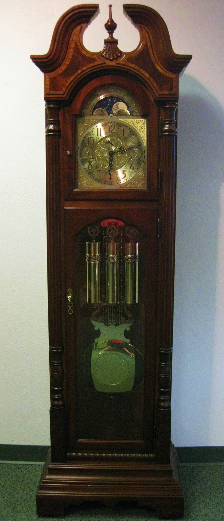 Sligh triplechime grandfather clock grandfather clocks grandfather clocks wall mantel antique clocks clock repair by mcguires clocks amipublicfo Images