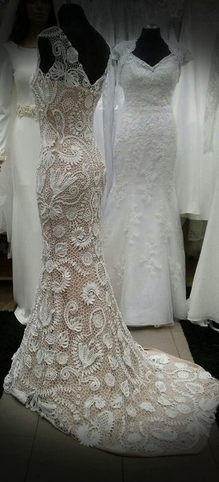 Unique Irish Crochet Wedding Dress Custom Made By Laiminga On Etsy
