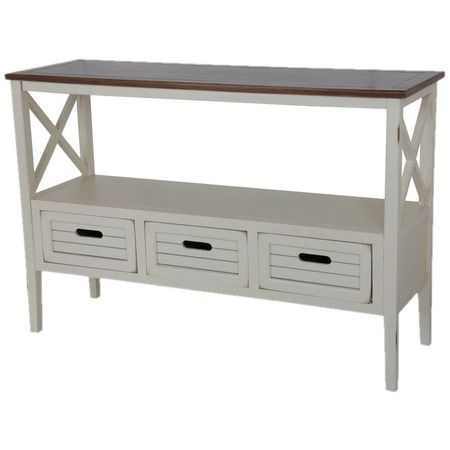 Best Wood Console Table With A Crisscross Design And Three 640 x 480
