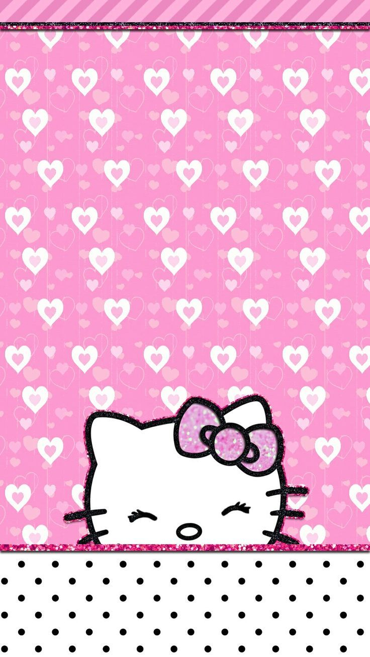 Sanrio Wallpaper Kawaii Hello Kitty Pink Mobile Pretty Wallpapers Cell Phone Coloring