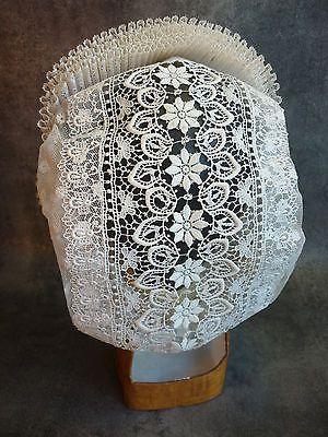 e717d5e4e97 Ancienne Coiffe Brodee Dentelle Bonnet Costume Chapeau