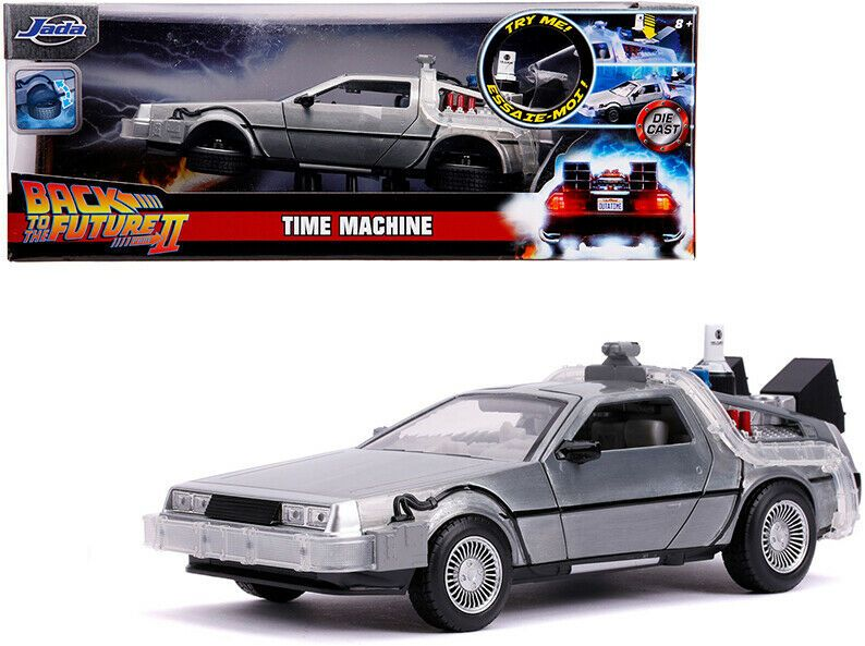 Details About Delorean Brushed Metal Time Machine With Lights