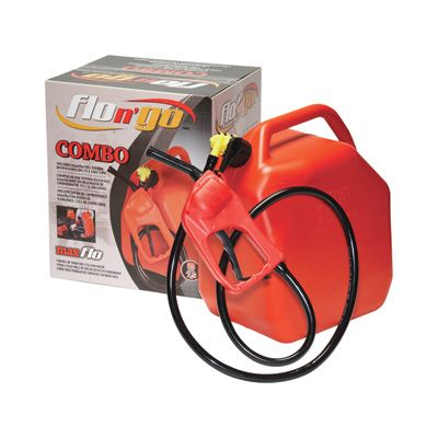 Flo N' Go Maxflo Siphon and Pump — With 5-Gallon Fuel Can, Model# 06922