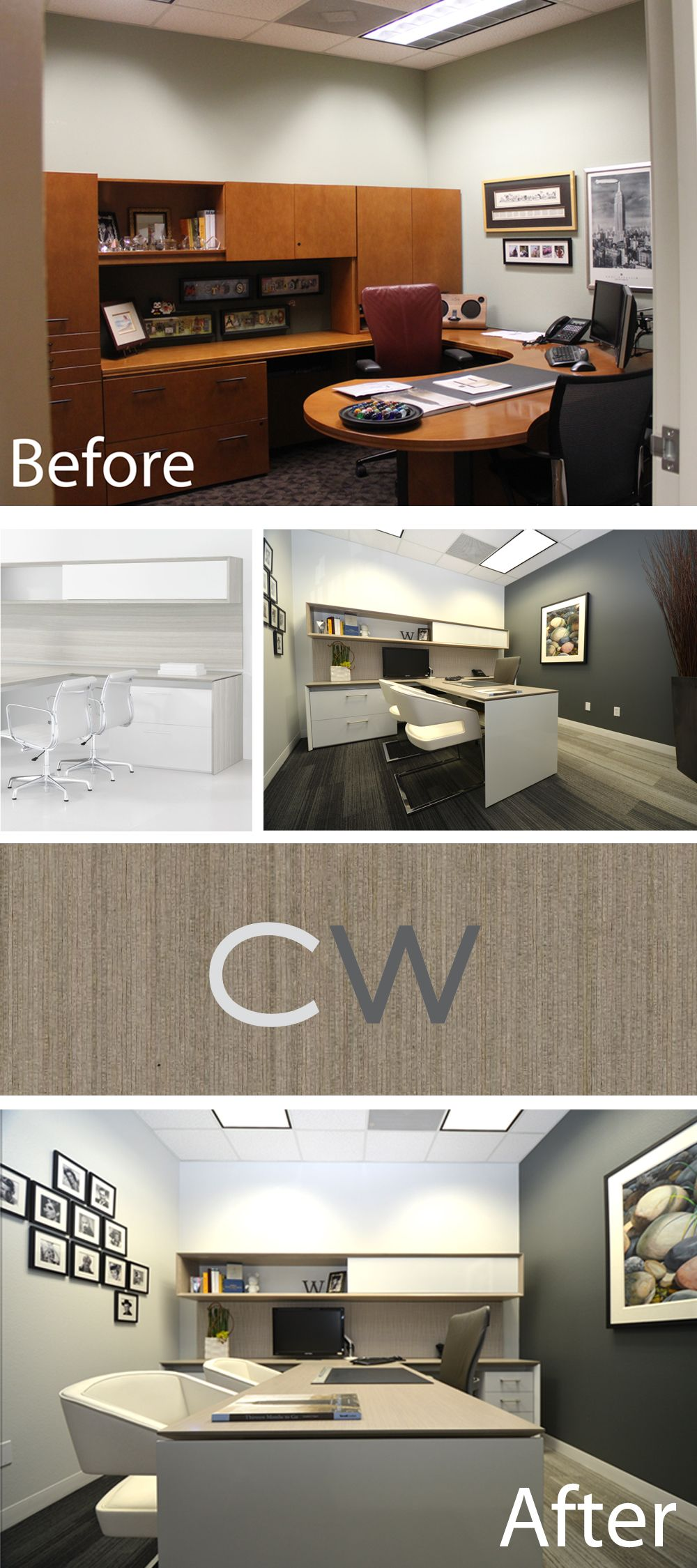 Before And After Private Office Design Creative Wood