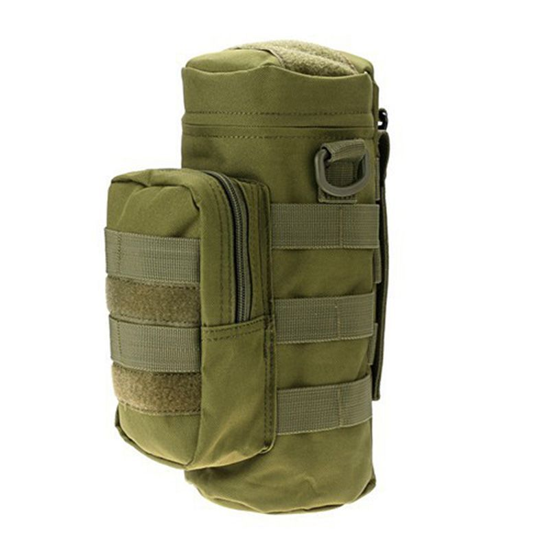 Outdoor Molle Water Bottle Bag Military Hiking Belt Holder Kettle Pouch Camping