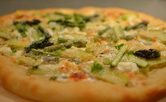 Goat Cheese and Asparagus Pizza recipe - Foodista.com  Sounds quick and easy...not to mention delicious!