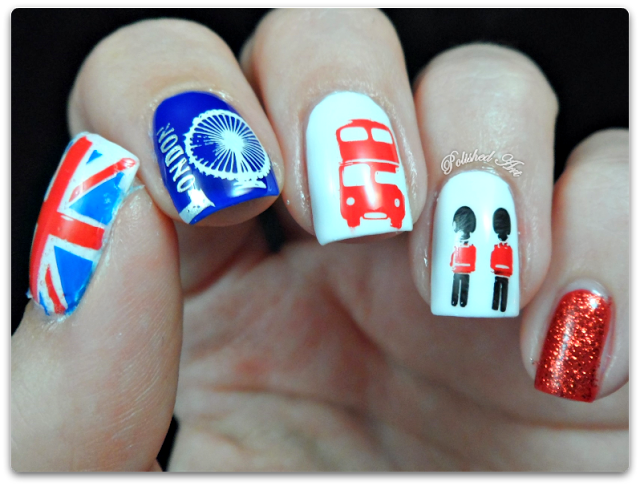 MoYou London plate Tourist collection 01 plate stamped nail art ...