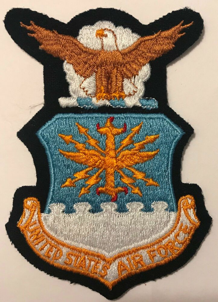 United States Air Force USAF Patch Felt Background Air