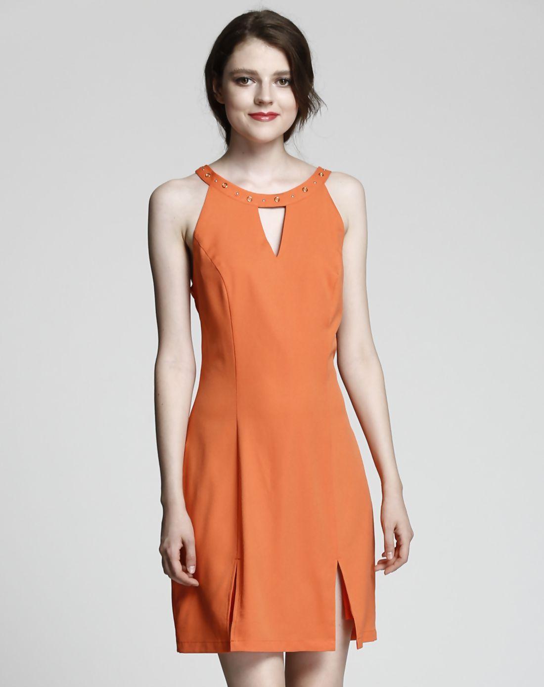 Adorewe vipme aline dressesdesigner liyas closet orange