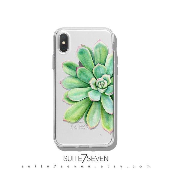 new concept 98425 285dc Succulent Favor, iPhone Case, Clear Phone Case, Succulent Planter ...