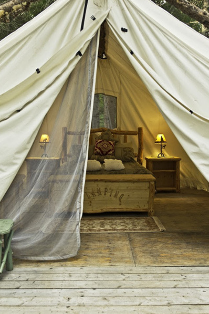 Luxury Prospectors Tents in the Boreal Forest Tent