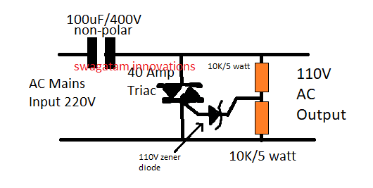 How To Make A 220v To 110v Converter Circuit In 2019
