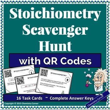 Stoichiometry Scavenger Hunt with QR Codes Qr codes, Activities - best of periodic table puns