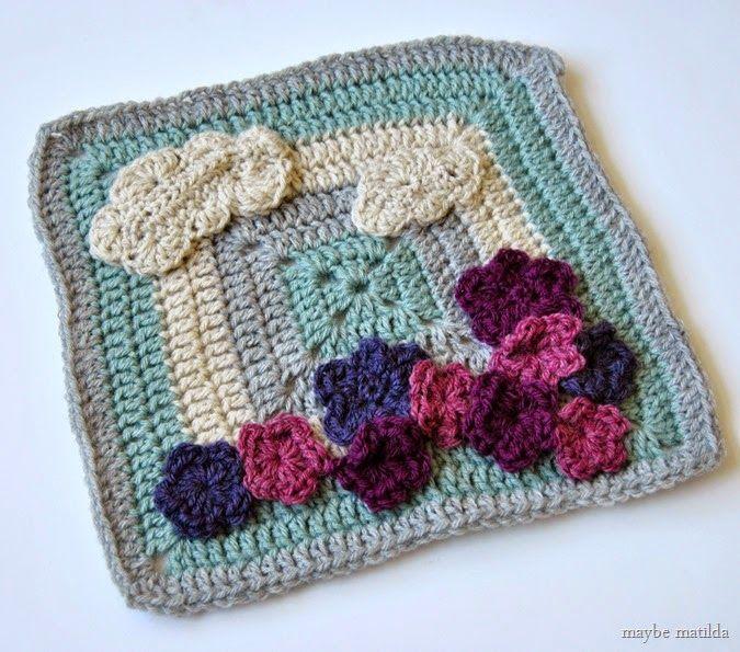 Flower Garden Granny Square pattern // www.maybematilda.com ...