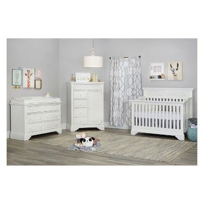 Baby Cache Haven Hill Changing Station White Lace