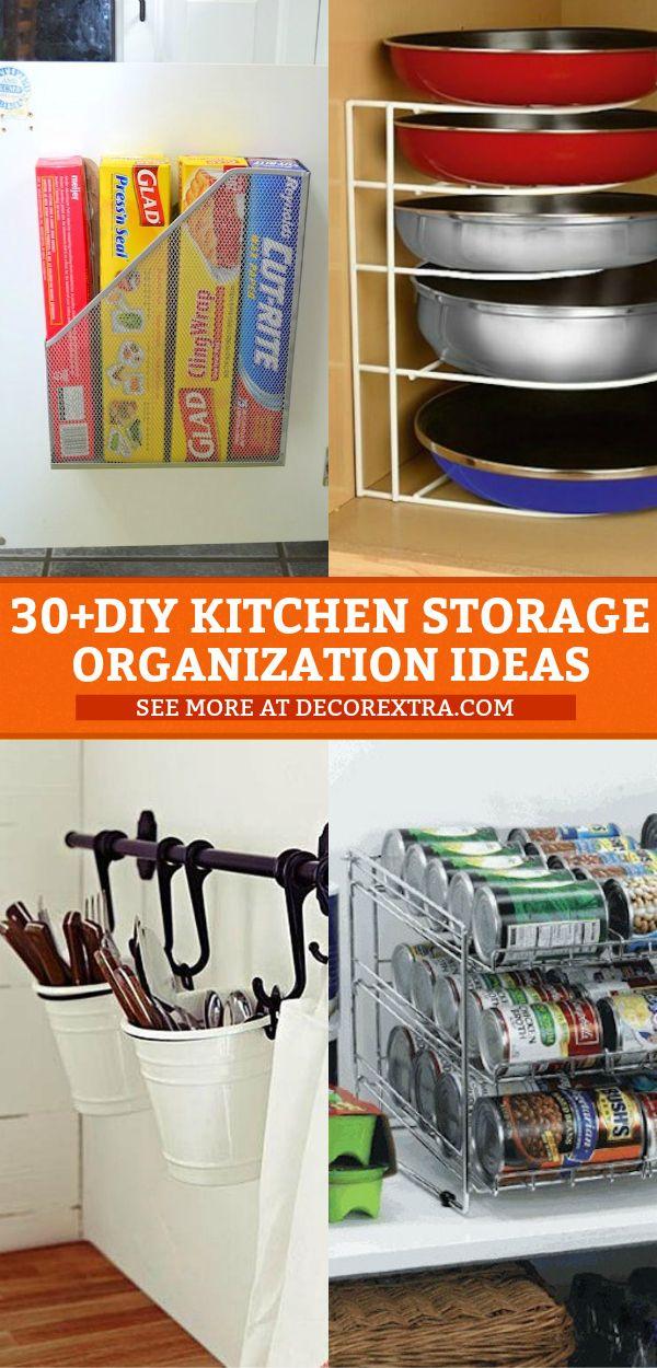 30+ Genius DIY Kitchen Storage and Organization Ideas\u2026 8 is