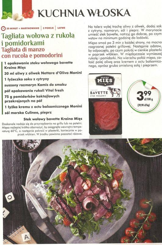 Tagliata Wolowa Przepis Z Gazetki Biedronki Food Meat Beef