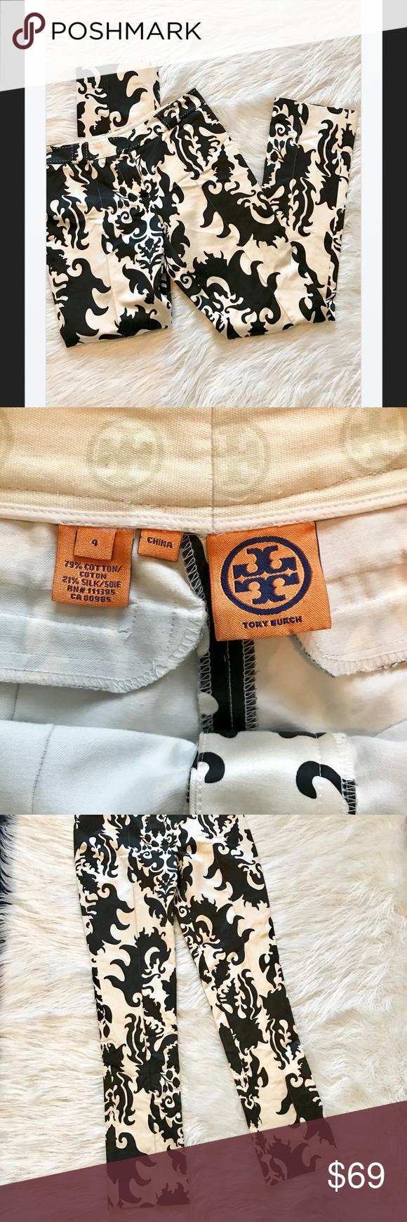 cd86b4386d25 Tory Burch Cotton Silk Blend Print Pants