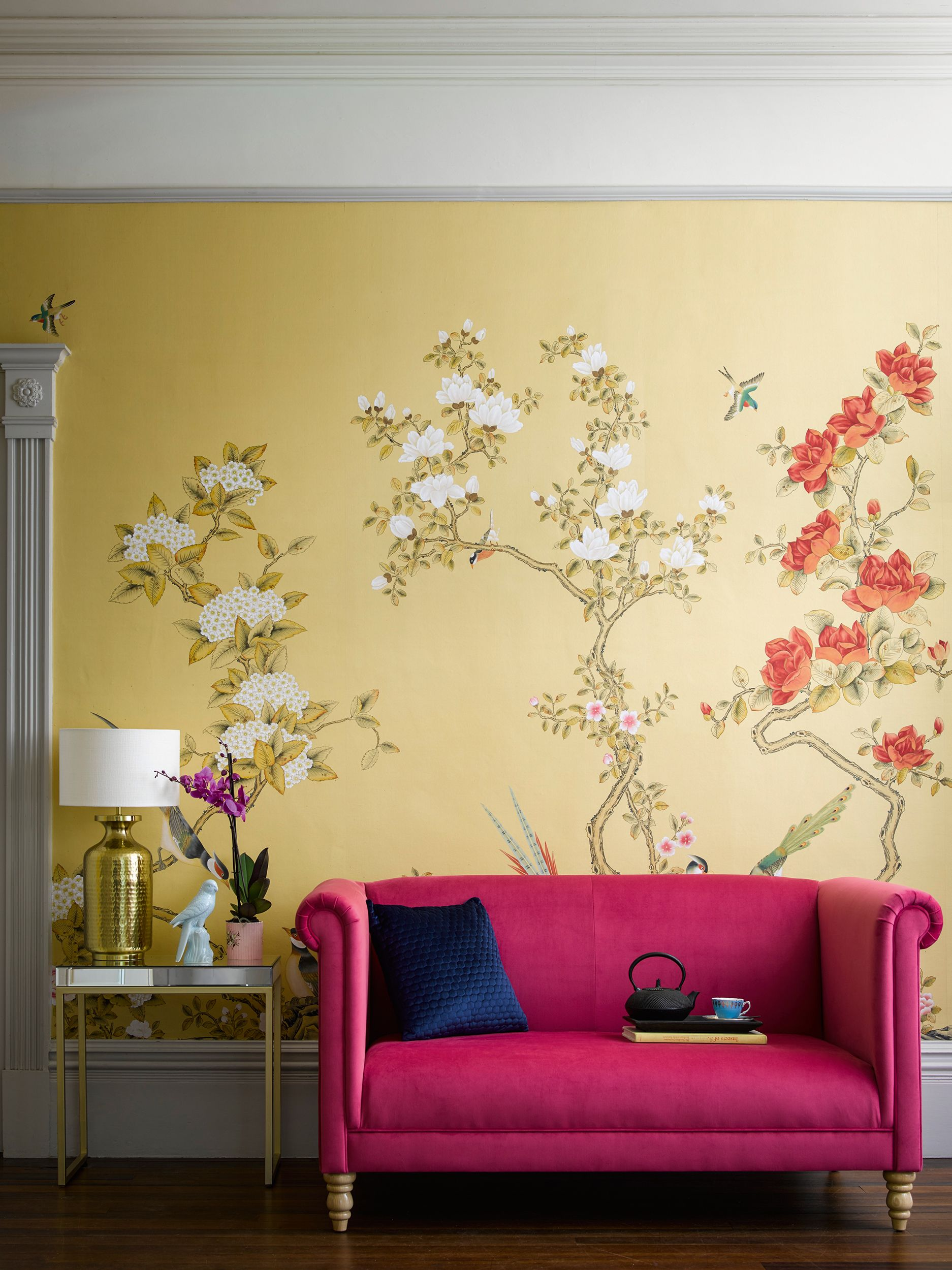 24 Yellow Room Ideas Perfect For Spring Yellow Room Yellow Living Room Colourful Living Room Yellow background living room