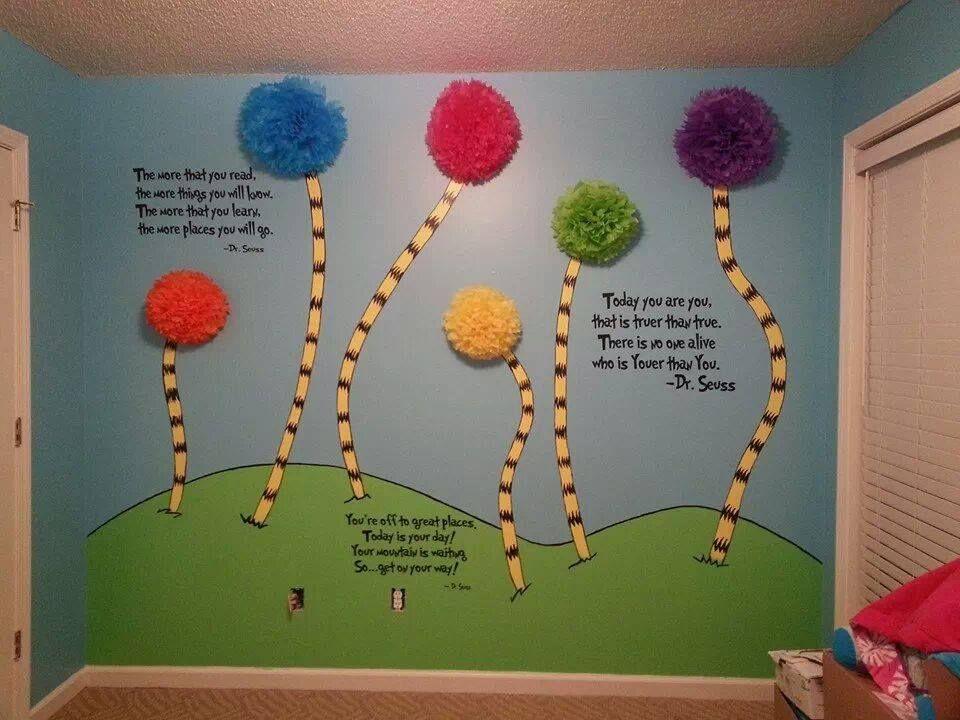 Pin By Meg Dominick On Nursery And Kid Room Ideas Dr Seuss Wall Art Dr Seuss Nursery Dr Suess Nursery
