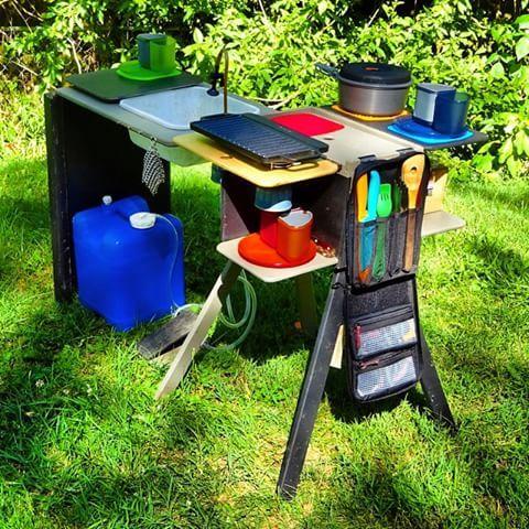 Camp Kitchen Fully Deployed Fifthelementcamping Vanlife