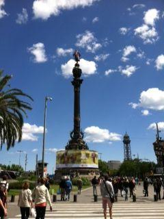 Las Ramblas Columbus statue